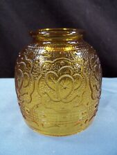 Fenton Amber Glass Persian Medallion Fairy Lamp - TOP SHADE ONLY