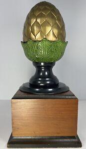 "Bronze Newel Post Finial Polychrome Boule Escalier 8.5"" x 5"" 4lbs 9 oz"