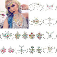Glitter Jewel Adhesive Sticky Tattoo sticker Face Gems Wedding Party Body Makeup