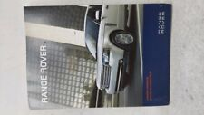 2011 Land Rover Range Rover Owners Manual 52720