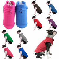 Hund Winter Warm Jacket Mantel Pullover Puppy Fleece Weste Haustier Kleidung