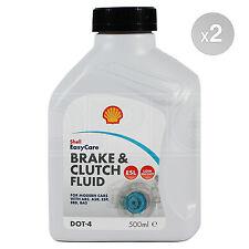 Shell DOT 4 ESL Brake & Clutch Fluid High Performance 2 x 500ml 1.0L