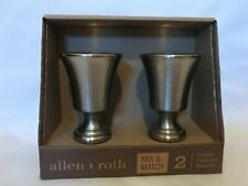 Pair of allen + roth Brushed Nickel Finish Finials New Free Shipping