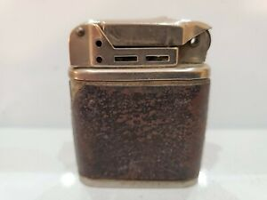 VINTAGE WORKING BEATTIE JET PIPE SILVER & LEATHER LIGHTER - U.S.A.   3094.27