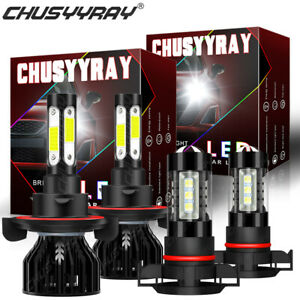 For Chevrolet Camaro 2010-2013 Blue Front LED Headlights High&Low Beam Fog Bulbs