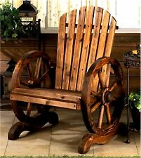 COUNTRY RUSTIC WAGON WHEEL ADIRONDACK CHAIR **CABIN PATIO YARD SOUTHWESTERN* NIB