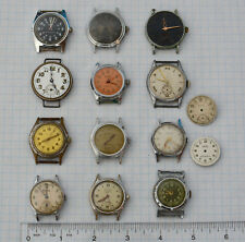 Lot of 12 Vintage Swiss BOY Trench Military 1920-1970s Wrist Watches Part repair