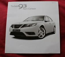 SAAB 9-3X CARLSSON 2010 BROCHURE SUPERB CONDITION ORIGINAL
