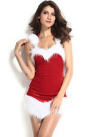 Deluxe Ladies Sexy Santa Costume Womens Mrs Christmas Fancy Dress Party 7244