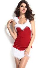 Vestido de Fiesta Disfraz de Lujo Damas Sexy Santa Navidad Elaborado para Mujer Señora 7244