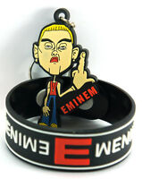 EMINEM 1x Rubber Bracelet Wristband &1x Keychain NEW /Not Afraid aw18