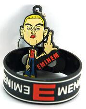 EMINEM 1x Rubber Bracelet Wristband &1x Keychain NEW /Not Afraid aw18
