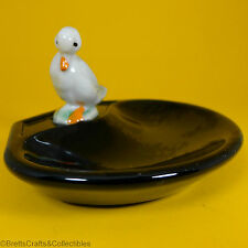 Wade Whimsies (1987/88) Whimtray/PinTray Series (Black Dish) Whimsie-Land Duck