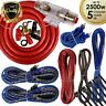 Complete 5 Channels 2500W 4 Gauge Amplifier Installation Wiring Kit Amp PK3 Red