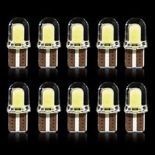 10pcs/lot  LED T10 CANBUS White License Light Bulbs Silica Bright W5W COB 8SMD