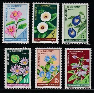Dahomey   1967   Sc # 226-31   Flowers   VLH   (54720)