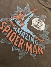 Original Classic Junk Food Amazing SPIDERMAN,REAL HERO WEARS TIGHTS  T-shirt M