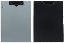 Clipboards-Foldable Hard Meterial Clipboard (Black Gray)
