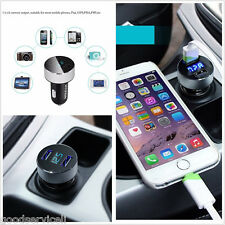 Car Charger Adapter Voltage 5V 3.1A Tester For iPhone Samsung Dual USB Service
