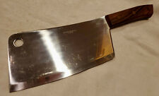 Vintage Japanese Chef's Kitchen Knife Cleaver Steel Japan 11.5""