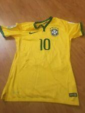 2014 World Cup Match-Worn Neymar Jr. Brazil National Team Jersey with LOA