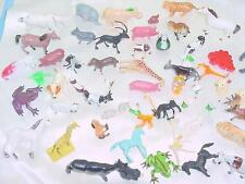 Vintage Large Plastic Resin  Farm Animals Horses Dogs Frogs Tiger Giraffe Lot