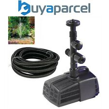 Hozelock Cascade 4000 Fountain & Waterfall Pond Pump 3344 Fish Filter & 5m Hose