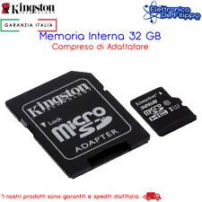 Micro SD Memoria MicroSD HC Kingston 32gb Uhs-i con adatt Cl10 - Sdc10g2/32gb