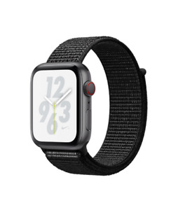 NEW Apple Watch Nike+ Series 4 44mm Gray Aluminum Case Sport Loop GPS Cellular