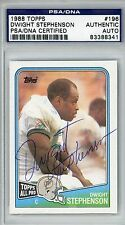 Dwight Stephenson Miami Dolphins 1988 Topps Autograph PSA/DNA Certified HOF