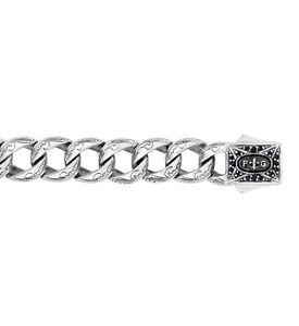 Phillip Gavriel 925 Sterling Silver Black Sapphire Miami Cuban Link Bracelet