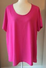 JESSICA LONDON Top Plus Size:18/20 Short Sleeves  Pink Top New
