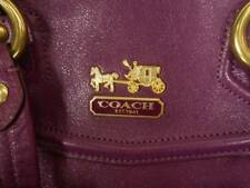 Beautiful Coach Purple Leather Madison Claire Satchel No. G0968-14334 EUC