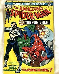 AMAZING SPIDERMAN #129 (February 1974) 1st Punisher Marvel comic Cents (vg/fn)