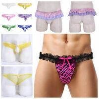 Lace Sissy Panties Underwear MALE Thong Bikini Briefs Sexy Men G-String Knickers