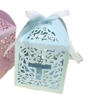 Laser Cut Cross Design Candy Boxes Wedding Favor Christian Box