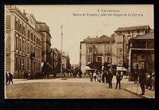 2921.-VALLADOLID -Banco de España y calle del Duque de la Victoria