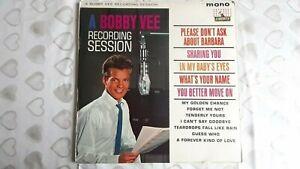 "BOBBY VEE     ""A BOBBY VEE RECORDING SESSION""     VINYL LP RECORDS"