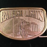 VINTAGE RALEIGH LIGHTS TRUCK BELT BUCKLE Solid! Men MENS UNISEX PANT ACCESSORY