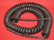 KALESTEAD COILED MAINS CABLE,(13 AMP) PVC/PUR BLACK ,CLOSED LEAD LENGTH 1000MM