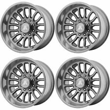 4x Asanti 20x10 AB815 Workhorse Wheels Titanium Brushed 8x170 -12mm Offset 5.03""
