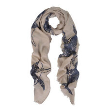 Unique Sharks Animal Print Frayed End Scarf Wrap - Diff Colors Avail