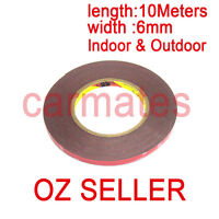 3M Double Face Sided Tape 6mm 10 Meters for Automotive Usage Dashboard Door OZ