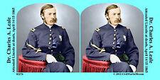Dr. Leale Lincoln Assassination Civil War SV Stereoview Stereocard 3D 03276