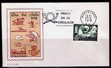 ESPAÑA SOBRE 1º DÍA 1978 BCN 2480 DIA DEL SELLO