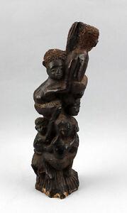 99839065 Sculpture sur Bois Afrique Voleurs Head L'Arbre de la Vie