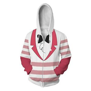 Hazbin Hotel ANGEL DUST 3D Printed Hoodie Cosplay Men Women Sweatershirt Hooded