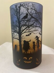 Yankee Candle - Halloween Scene Hurricane Jar Candle Holder HTF.