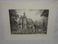 Steindruck Straelen Haus Coull Lithographie orig. Radierung M. Bloch (12614)