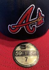 New Era 59 Fifty MLB Official On Field Atlanta Braves Fitted Hat Size 7 New